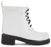 Ilse Jacobsen Women's Lace Up Ankle Rubber Boots White