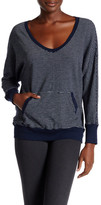 Allen Allen Stripe Dolman U-Neck Sweater