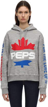 DSQUARED2 Pepsi Cotton Jersey Sweatshirt Hoodie