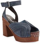 Free People Orion Leather Platform Heel Sandals