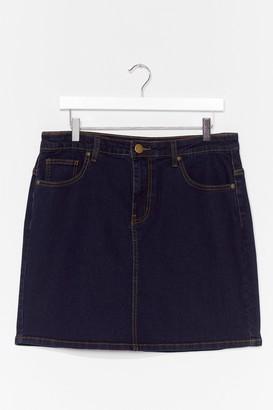 Nasty Gal Womens Be There in a Mini Plus Denim Skirt - Dark Blue