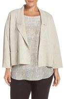 Eileen Fisher Plus Size Women's Notch Collar Washable Wool Crepe Jacket