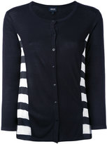 Armani Jeans striped cardigan - women - Polyester/Viscose - 40