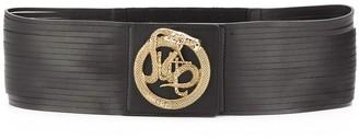Just Cavalli logo snake embellished belt