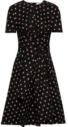 Diane von Furstenberg Quinton Tie-front Printed Cotton-blend Poplin Dress