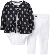 Carter's Baby Girls' 3 Piece Print Cardigan Set (Baby)