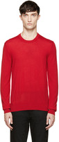 Dolce & Gabbana Red Wool Sweater