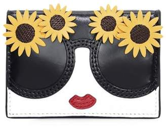 Alice + Olivia Lexi Stace Face Leather Envelope Card Case