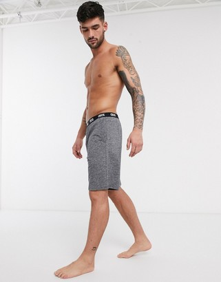 ASOS DESIGN lounge pyjama shorts in black space dye with branded waistband