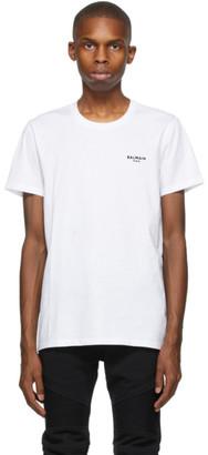 Balmain White Eco Flocked T-Shirt