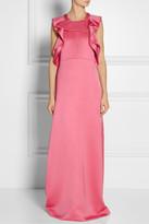 Chloé Ruffled silk-blend satin gown