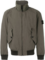 Stone Island ribbed and shell-trimmed windbreaker - men - Cotton/Polyamide/Polyurethane Resin - S