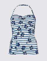 Marks and Spencer Padded Bandeau Tankini Top