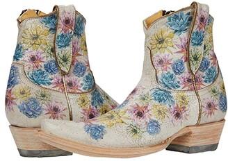Old Gringo Saguaro Flower 7 (Crackled Taupe) Women's Boots