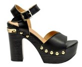 Love Moschino Women's Black Leather Sandals.