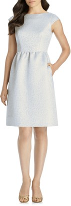 Dessy Collection Bateau Neck Cocktail Dress