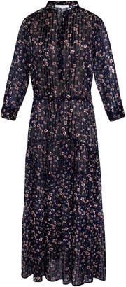 Gerard Darel Long Bohemian Floral Print Dress