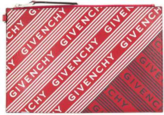 Givenchy all over logo print clutch
