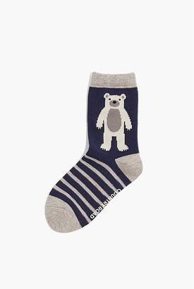 Country Road Polar Bear Sock