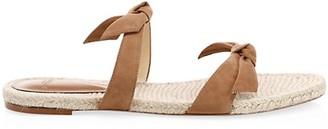 Alexandre Birman Clarita Braided Suede Slide Sandals