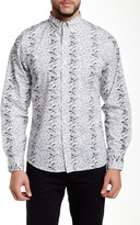 Kennington Flower Line Up Long Sleeve Slim Fit Shirt