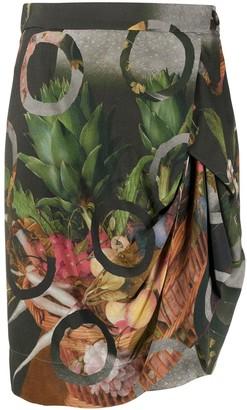 Vivienne Westwood Fruit Print Draped Skirt