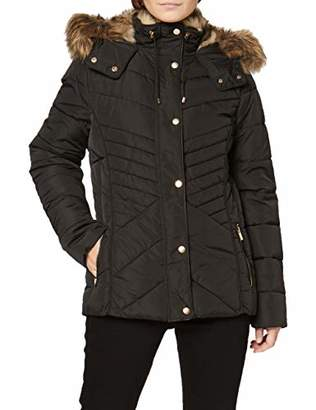 New Look Petite Women's P OP Fitted Padded Puffer:1:S Coat, (Black (Size:)