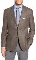 JB Britches Men's Classic Fit Windowpane Wool Sport Coat
