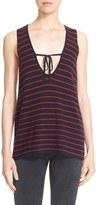 Elizabeth and James Women's 'Dahlia' Stripe Sleeveless Sweater