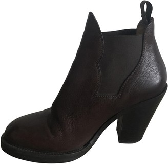 Acne Studios Star Burgundy Leather Ankle boots