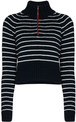By Any Other Name Striped Zip Neck Jumper
