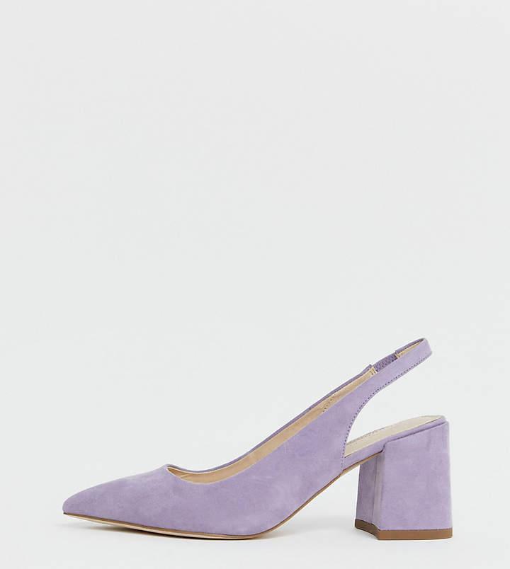 In Fit Mid Lilac Slingback Heels Design Samson Wide bYy6gf7