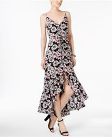 Betsey Johnson Printed High-Low Maxi Dress