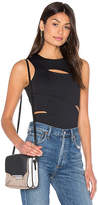 Alexander Wang Lux Ponte Slit Top in Black. - size L (also in )