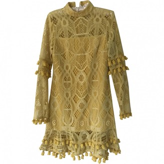 Alexis Yellow Lace Dress for Women