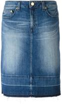 MICHAEL Michael Kors stonewashed denim skirt - women - Cotton/Spandex/Elastane - 0