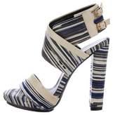 Balenciaga Striped Platform Sandals