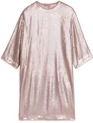 Arket Matte Sequin Dress