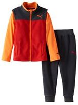 Puma Baby Boy Tee, Fleece Vest & Pants Set