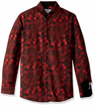 Azaro Uomo Men's Italian Style Long Sleeve Dress Shirt Casual Button Down