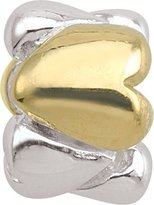 Persona 18K Gold Plated Sterling Silver Opposites Attract Charm fits Pandora, Troll & Chamilia European Charm Bracelets