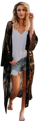 waitFOR Women Bohemian Beach Long Kimono Caridigan