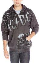 Liquid Blue Men's AC/DC Night Prowler Zip Hood Hooded Sweatshirt
