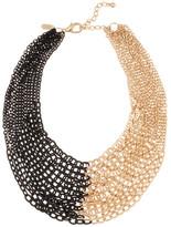 Natasha Accessories Two-Tone Chain Bib Necklace