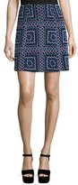 Nanette Lepore Patchwork A-Line Mini Skirt, Black/Multi