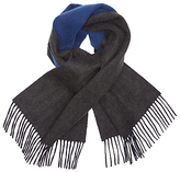 Johnstons Contrast Reversible Cashmere Scarf, Grey/blue