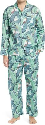 Sant and Abel Men's Martinique Banana Leaf Print Pajamas
