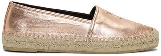 Saint Laurent Pink Metallic Monogram Espadrilles