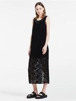 Calvin Klein Platinum Openwork Mix Sleeveless Dress