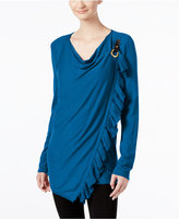 INC International Concepts Ruffled Wrap Sweater, Only at Macy's